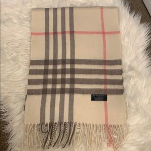 Burberry large check lambswool scarf
